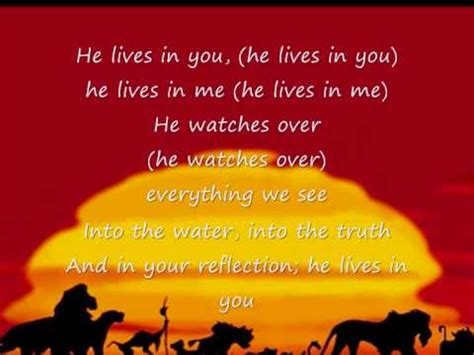 The Lion King II - He lives in you by Tina Turner (Sing